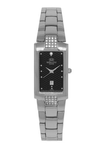 Roscani silver Roscani Sandra B71 (Curved Crystal) Stainless Steel Black Bracelet Women Watch 54A5BAC8D85605GS_1