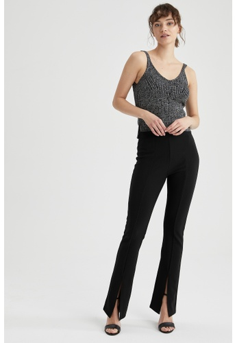 DeFacto black Woman Woven Trouser BF7F6AAAF89833GS_1