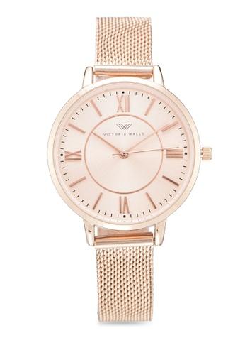 Victoria Walls Watches gold Designer Watch-Elegant Milanese Mesh Strap 5E81CAC48E5431GS_1