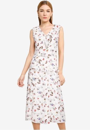 Nichii 白色 Floral Print Dress 791E5AA8E77A41GS_1