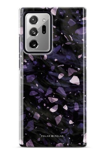 Polar Polar purple Lilac Terrazzo Gem Dual-Layer Tough Case Glossy For Samsung Galaxy Note20 Ultra 5G E4986AC72CE138GS_1