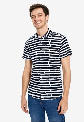 LC Waikiki navy Short Sleeve Shirt D8716AAFD5D5A4GS_1