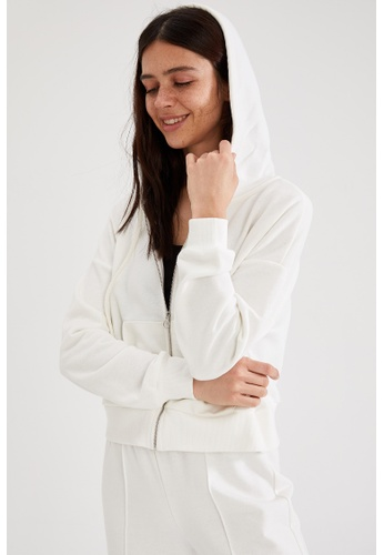 DeFacto white Woman Knitted Cardigan F0F0EAA5469F14GS_1