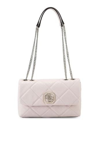 Guess pink Dilla Convertible Crossbody Flap Bag 6C6FAACE441FD7GS_1