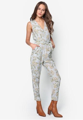 花卉印花裹飾topshop 洋裝連身長褲, 服飾, 服飾