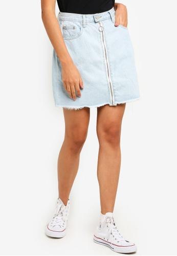 Glamorous blue Bleach Stonewash Skirt 68351AA8BA989BGS_1