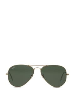 a90a448942 Ray-Ban yellow Aviator Large Metal RB3025 Sunglasses RA370GL29SASSG 1