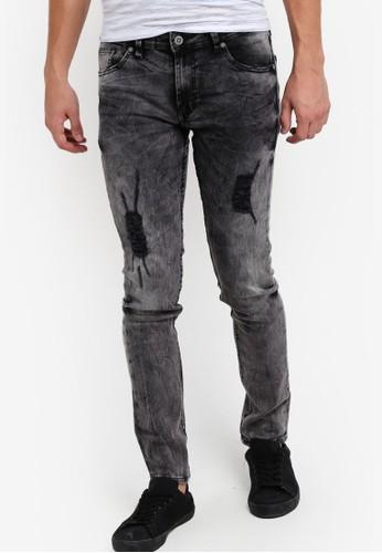 水洗超窄管牛尖沙咀 esprit仔褲, 服飾, 服飾