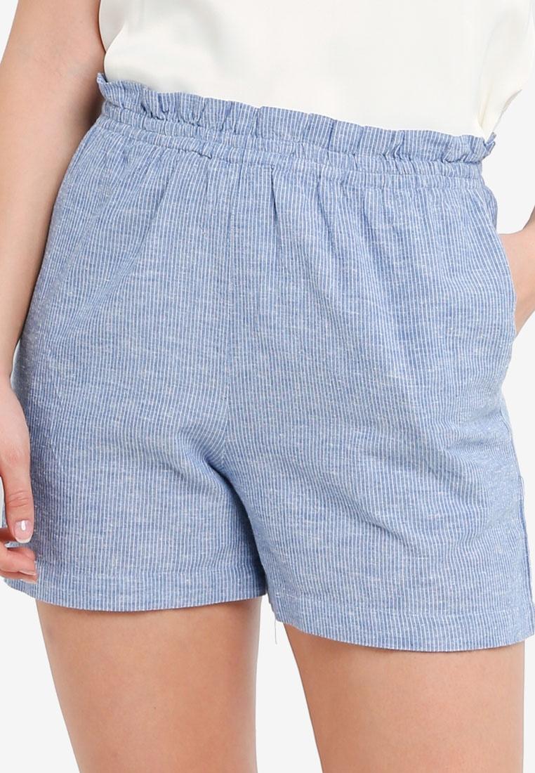 ICHI Striped Shorts Blue Boha Mid rg6wXr