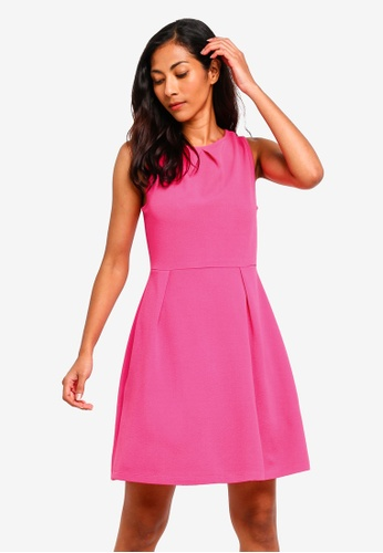 ZALORA BASICS pink Basic Pleat Details Dress 6482AAAAEDEE70GS_1