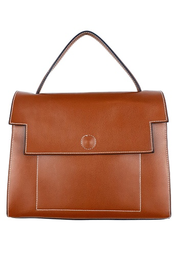 BELLE LIZ brown Crossbody Simple Stylish Ladies Leather Handbag Crossbody Bag Coffee 5162EAC3095064GS_1
