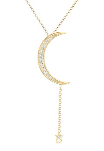 Elli Germany gold 925 Sterling Silver Kalung Crescent Y-Shape Zirconia Lapis Emas Emas 80772AC589F2A2GS_1
