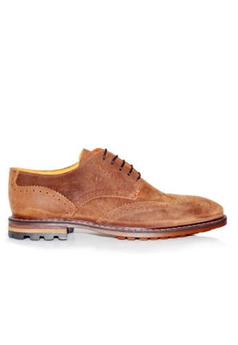 Gino Mariani brown Gino Mariani Men's Leather Shoes FRANCIO - TAN EAE69SHC0F858BGS_1