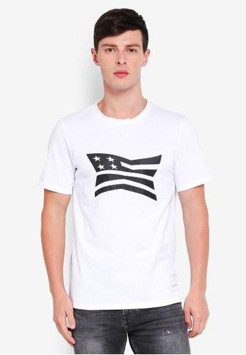 Calvin Klein 白色 Modernist Regular Short Sleeve Tee - Calvin Klein Jeans C637BAA375E89DGS_1