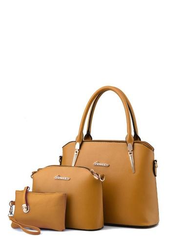 TCWK brown Set of 3pcs Ladies Handbag TC258AC0RFOSMY_1
