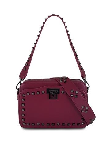 8bf7d94f0c73d Valentino Rudy pink Valentino Rudy Studded Shoulder Bag VA677AC0H8VESG 1