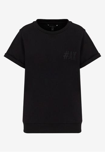 Armani Exchange black AX Armani Exchange Women Crewneck Short Sleeves Sweatshirt - Spring & Summer 2021 Collection BEE03AABAF6F7FGS_1