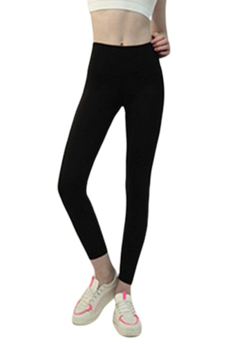 LYCKA navy BSY1010 Lady Quick Drying Running Fitness Yoga Sports Leggings Navy 12285AA9797A1DGS_1