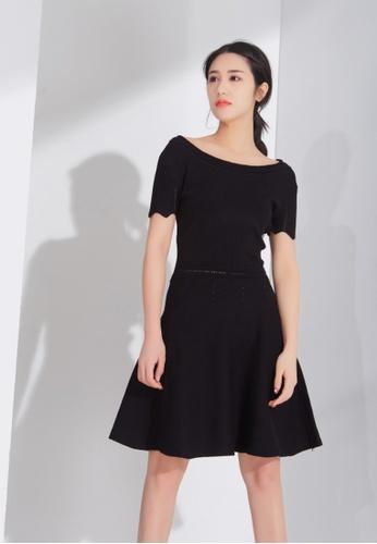 Zafiti black Round Neckline Knitting Dress 15695AAE1151AFGS_1