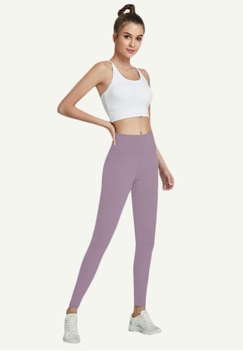 B-Code purple ZWG7006Lady Quick Drying Running Fitness Yoga Sports Leggings -Purple B7682AACE51A9BGS_1