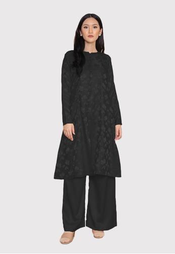 LosraVelda black Naina Top and Pants A6F4BAA561B794GS_1