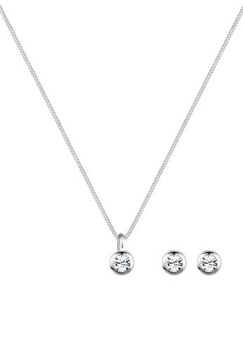 af395d61e Elli Germany white Elli Germany Jewelry Set Sterling Silver Classic  Swarovski Crystals 477E9AC3BA6293GS_1