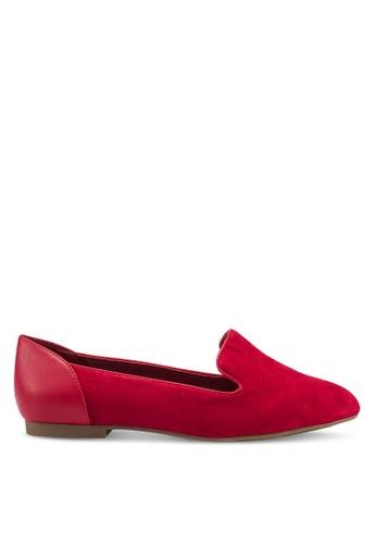 ALDO 紅色 麂皮樂福鞋 BC35BSHDDBA209GS_1