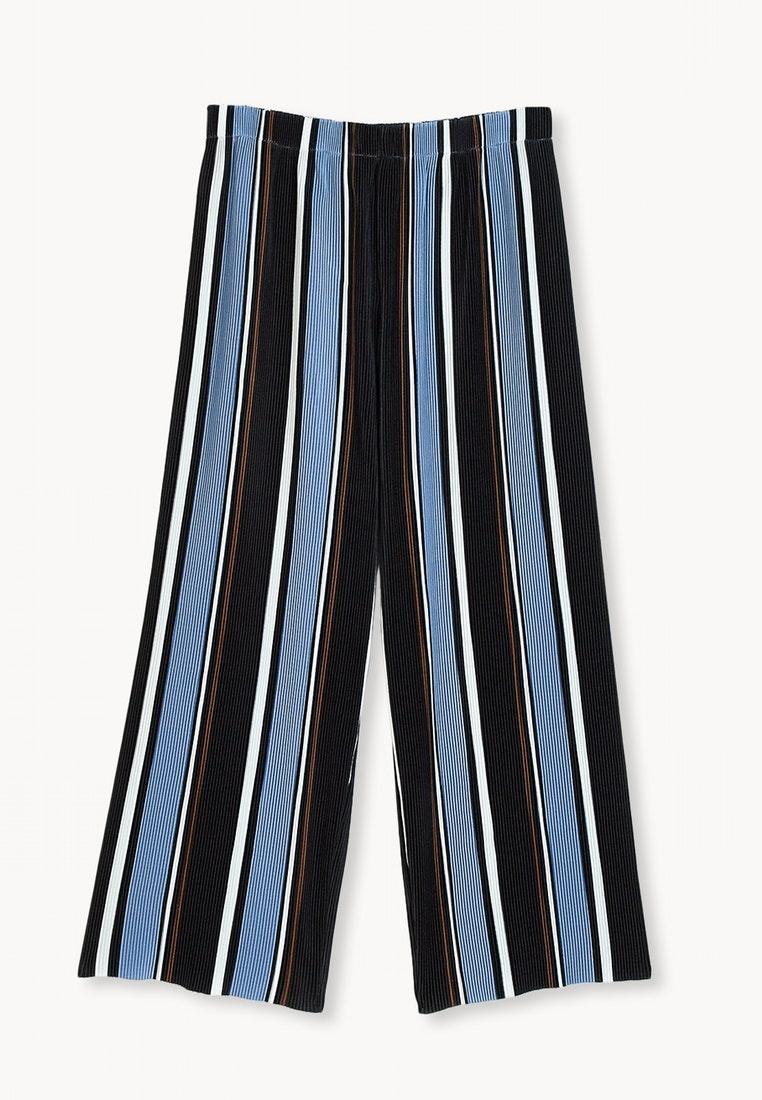 Pomelo Blue Stripe Semi Pleated Culottes Blue rxY0rUaq