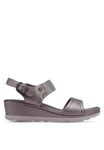 Bata 灰色 繞帶楔型鞋 144ECSH5E9FF22GS_1