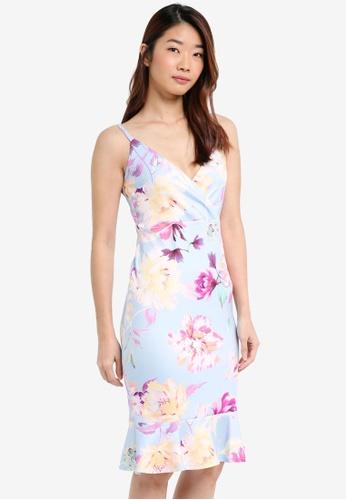 Dorothy Perkins blue and multi Blue Pephem Bodycon Dress 210B6AAD524058GS_1