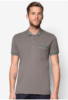 Button Down Polo With Tipping