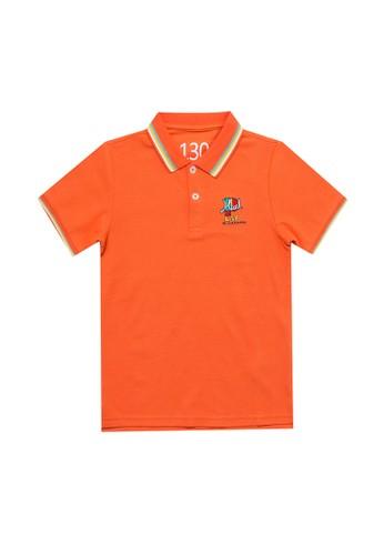 Giordano orange Junior Short Sleeve Embroidery Polo Shirt F81DAKAE5E05DFGS_1