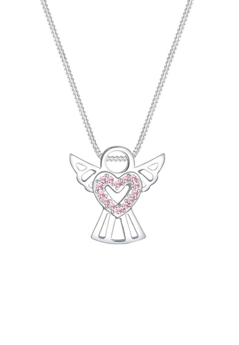 ELLI GERMANY silver Necklace Protective Heart Crystals EL474AC0SEVCMY_1