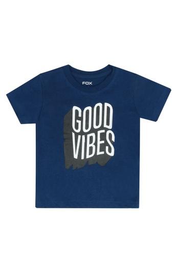FOX Kids & Baby blue Short Sleeve Graphic Tee 0C787KA960785DGS_1