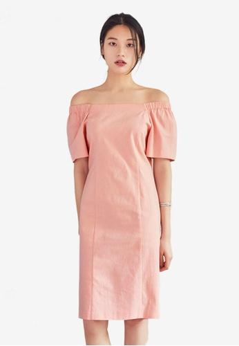 NAIN pink Slim Fit Dress 9E6C3AA382D54CGS_1