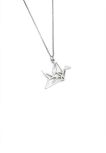 Amazon.com: Diamondere Natural and Certified Origami Swan Necklace ... | 500x346