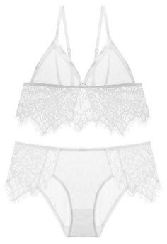f780d92c36 LYCKA. LMM1001- Lady Sexy Lace Bra and Panty Set-White