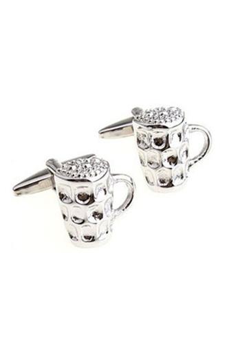 Oxhide silver Cufflink Box - Cufflinks Set - Cufflink Shirt - Beer Nuts Cuff01 7FFB9ACC9EDCD4GS_1