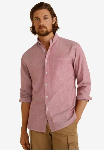 Mango Man 紅色 Regular Fit Oxford Cotton Shirt 3DB70AA4A20B0EGS_1