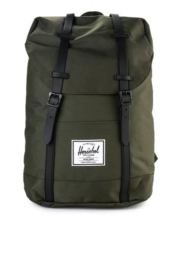 Herschel green and multi Retreat Backpack 7E435ACF935F9FGS_1
