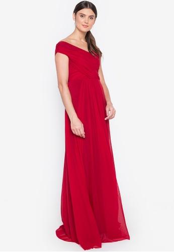 Tantease red Layla Long Dress 2FE9CAA3806135GS_1