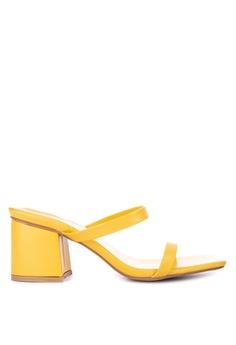 9a69a8f33c25 the   edit yellow Frances Strappy Slip On Block Heel C6811SHD193AAFGS 1