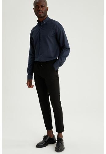 DeFacto blue Long Sleeve Cotton Shirt 4D569AA63C97AEGS_1