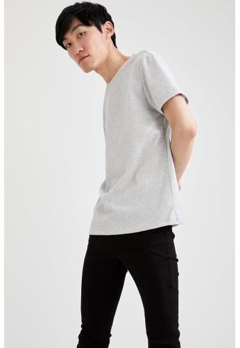 DeFacto white Short Sleeve Round Neck T-Shirt BA2BDAA3C2CD86GS_1