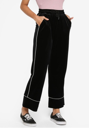 Something Borrowed black Contrast Piping Pants F1AFBAAB02D353GS_1