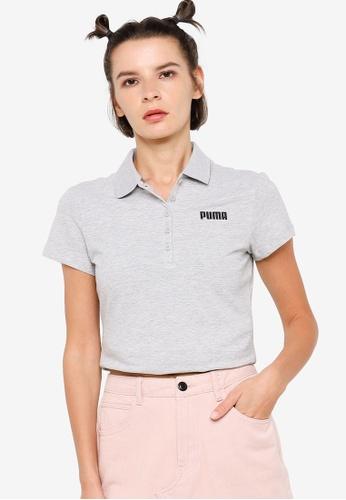 PUMA grey Essentials Women's Polo Shirt 38F45AA7DA8E30GS_1