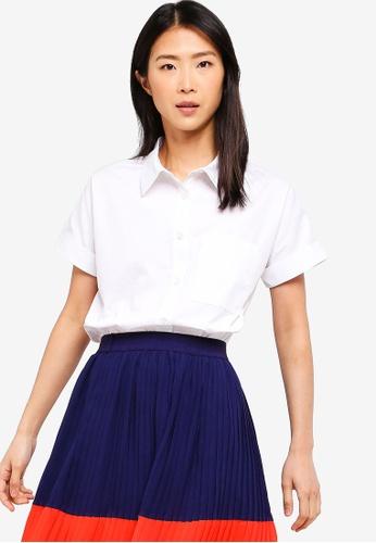 ZALORA BASICS white Basic Long Shirt E182EAACE064BBGS_1