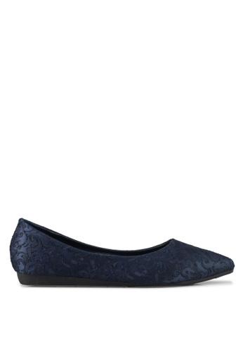Mimosa blue Lace Flats 438A8SHD63C47CGS_1
