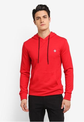 JAXON red Hooded Logo Pullover 5E73FAA94D03E3GS_1