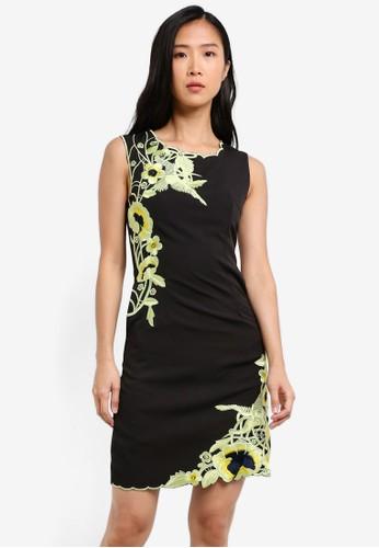 Megane black and multi Alita Embroidery Shift Dress ME617AA0S0VHMY_1